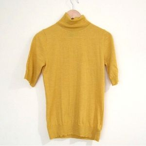 Adrienne Vittadini Yellow Wool Short Sleeve Top